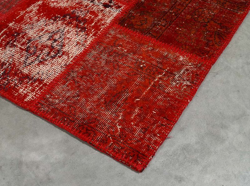 ANGELO RUGS Patchwork Teppich UP CYCLE rot online kaufen