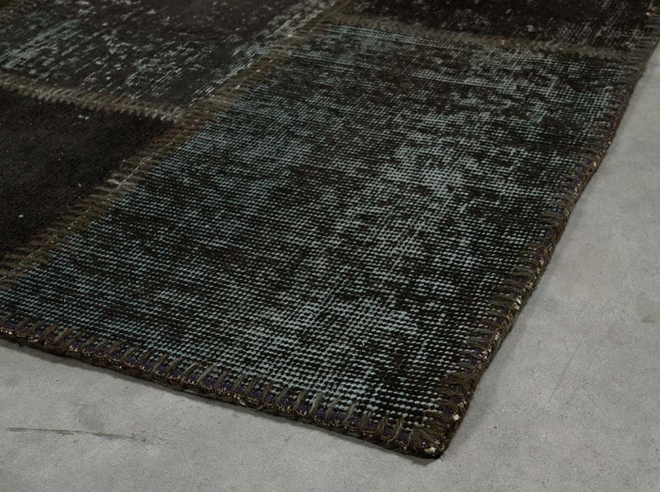 ANGELO RUGS Patchwork Teppich UP CYCLE schwarzgrau online