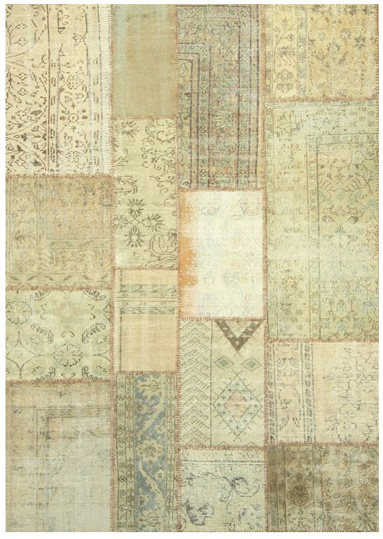 ANGELO RUGS Patchwork Teppich UP CYCLE beige online kaufen