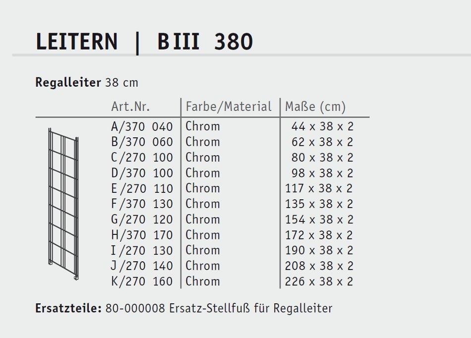 balton regalleiter biii chrom tiefe 38 cm online kaufen. Black Bedroom Furniture Sets. Home Design Ideas
