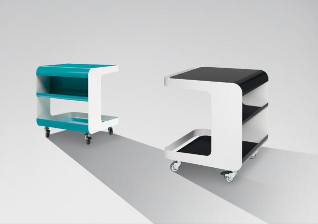 Beistelltisch Holz Auf Rollen ~ müller möbelfabrikation Beistelltisch auf Rollen mit Ablagefächern