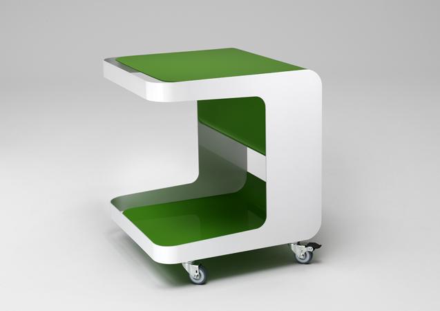 m ller m belfabrikation beistelltisch auf rollen mit. Black Bedroom Furniture Sets. Home Design Ideas