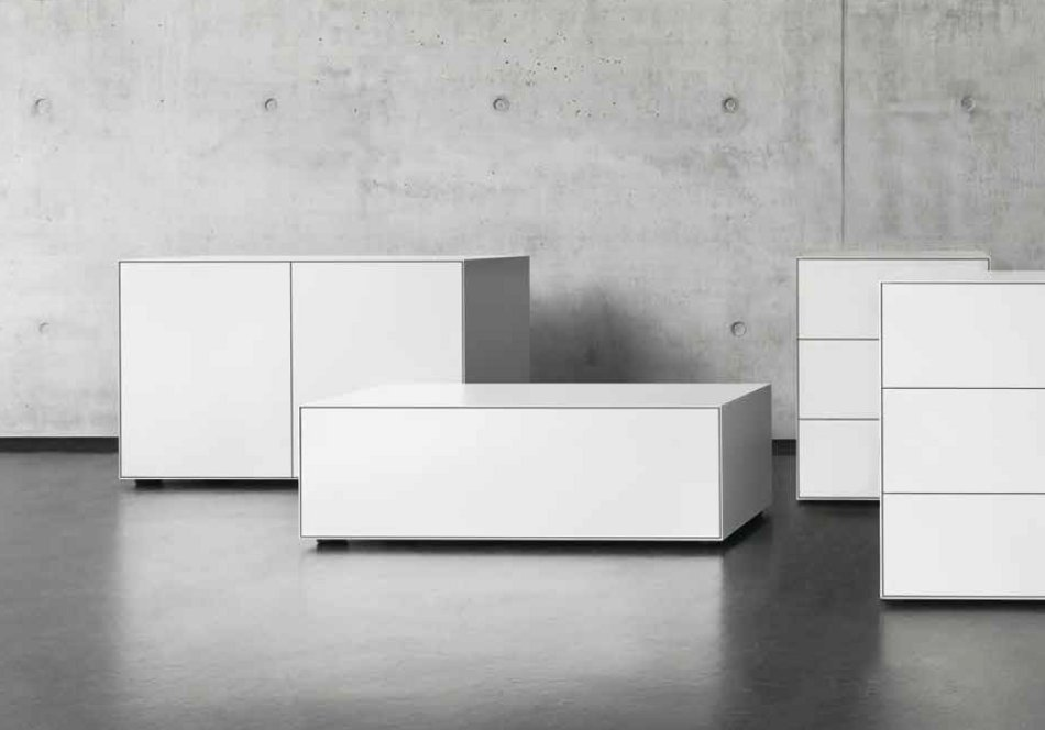 piure nex pur box schubkasten farbe weiss 48 cm tief. Black Bedroom Furniture Sets. Home Design Ideas