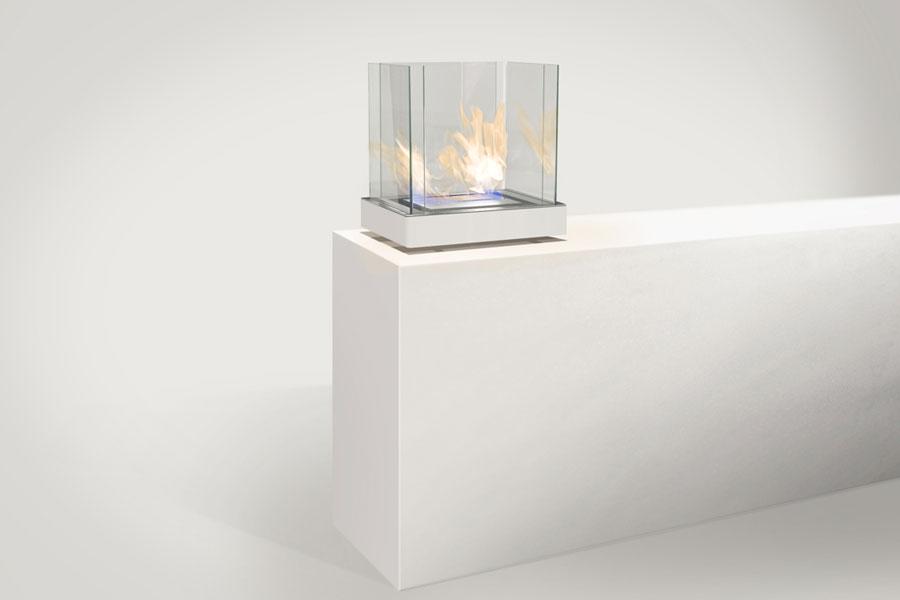 ... Radius Design Bio Ethanol Kamin Top Flame, Weiß Hochglanz 3 Liter  Brennkammer ...