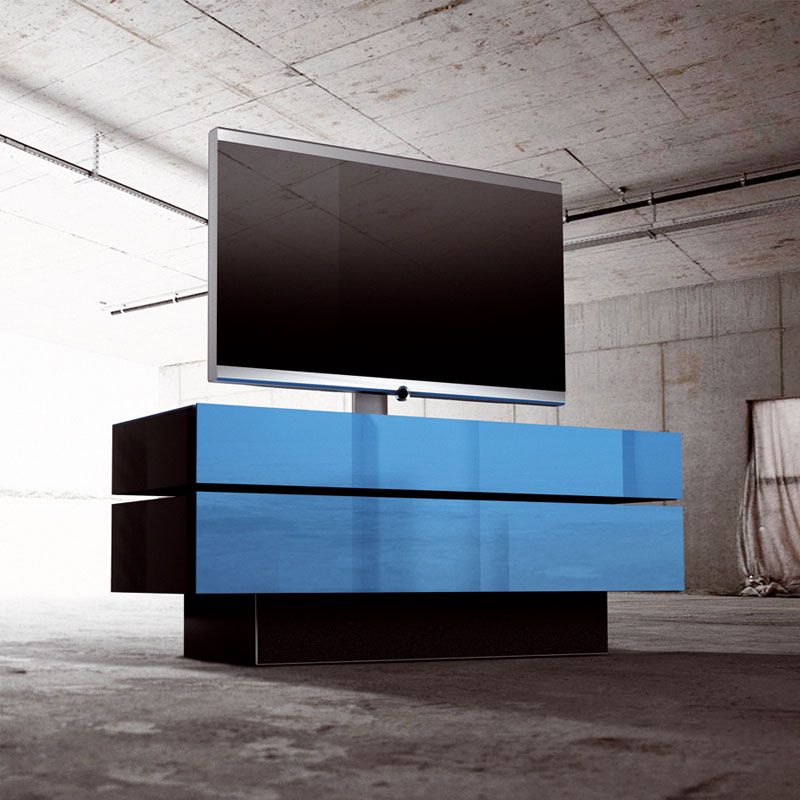 weltneuheit von spectral tv m bel in den designetagen. Black Bedroom Furniture Sets. Home Design Ideas